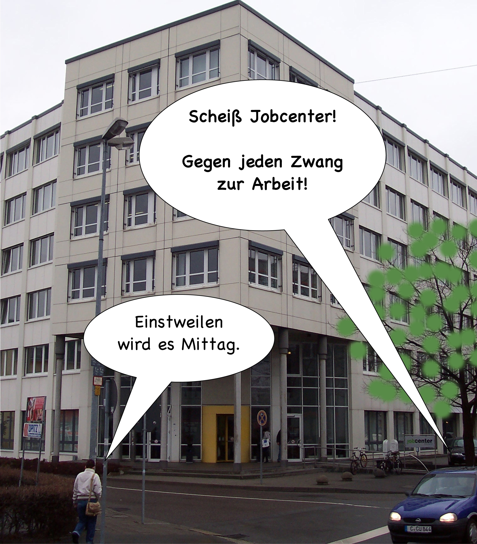 Schei� Jobcenter! (Sprechblase)
